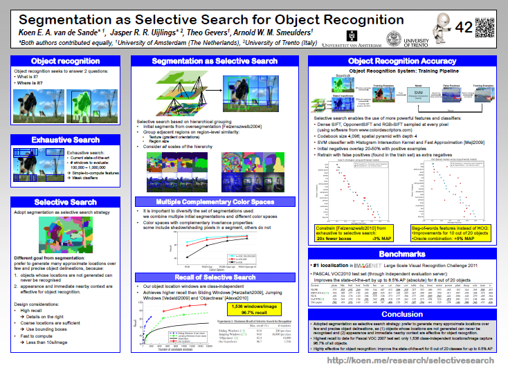 Segmentation as Selective Search for Object Recognition